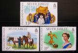 Poštovní známky Falklandské ostrovy 1977 Vláda Alžběty II. Mi# 249-51