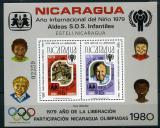 Poštovní známka Nikaragua 1980 Mezinárodní rok dětí Mi# Block 110 Kat 45€
