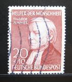 Poštovní známka Německo 1952 Theodor Fliedner Mi# 158