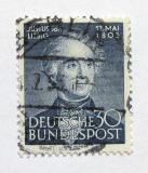 Poštovní známka Německo 1953 Justus von Liebig, chemik Mi# 166 Kat 25€