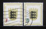 Poštovní známky Německo 1955 Znak Baden-Württemberg Mi# 212-13