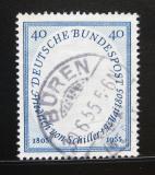 Poštovní známka Německo 1955 Friedrich von Schiller Mi# 210