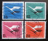 Poštovní známky Německo 1955 Lufthansa emblém Mi# 205-08