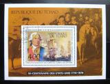 Poštovní známka Čad 1976 Americká revoluce Mi# Block 64