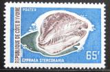 Poštovní známka Pobřeží Slonoviny 1972 Cypraea Mi# 398