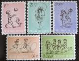Poštovní známky Belgie 1966 Dětské hry Mi# 1456-60