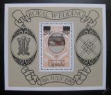 Poštovní známka Uganda 1981 Královská svatba Mi# Block 27