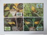 Maxikarty Barbados 1991 Lesňáček žlutý, WWF 107 Mi# 770-73