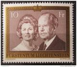 Poštovní známka Lichtenštejnsko 1974 Knížecí pár Mi# 614 Kat 14€