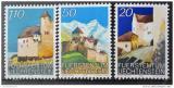 Poštovní známky Lichtenštejnsko 1986 Hrad Vaduz Mi# 896-98