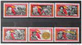 Poštovní známky DDR 1966 Španělská občanská válka Mi# 1196-1201