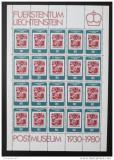 Poštovní známky Lichtenštejnsko 1980 Poštovní muzeum Mi# 750 Kat 24€