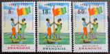 Poštovní známky Rwanda 1972 Výročí nezávislosti Mi# 497-99