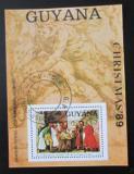 Poštovní známka Guyana 1989 Umění, Titian, vánoce Mi# Block 72