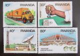Poštovní známky Rwanda 1986 Přeprava a komunikace Mi# 1327-30