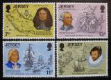 Poštovní známky Jersey 1976 Americká revoluce Mi# 149-52