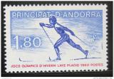 Poštovní známka Andorra Fr. 1980 ZOH Lake Placid Mi# 304