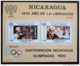 Poštovní známka Nikaragua 1980 LOH Moskva Mi# Block 113 Kat 40€