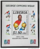 Poštovní známka Libérie 1995 George Weah Mi# Block 141