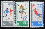 Poštovní známky Malta 1978 MS ve fotbale Mi# 571-73