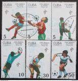 Poštovní známky Kuba 1990 MS ve fotbale Mi# 3356-61