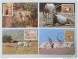 Maxikarty Niger 1985 Adax, WWF 027 Mi# 941-44