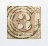 Poštovní známka Thurn a Taxis 1861 Nominální hodnota Mi# 17 Kat 75€