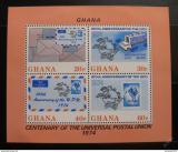 Poštovní známky Ghana 1974 Výročí UPU Mi# Block 55