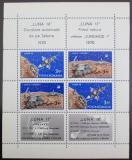 Poštovní známky Rumunsko 1971 Lety na Měsíc Mi# Block 82