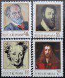 Poštovní známky Rumunsko 1971 Slavní umělci Mi# 2979-82