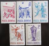 Poštovní známky Rumunsko 1963 ME ve volejbale Mi# 2184-88