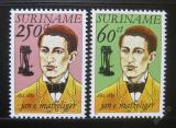 Poštovní známky Surinam 1992 Jan A. Matzeliger, vynálezce Mi# 1418-19