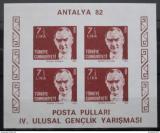 Poštovní známky Turecko 1982 Kemal Atatürk neperf. Mi# Block 22 B