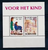 Poštovní známky Surinam 1991 Dětské kresby Mi# Block 56