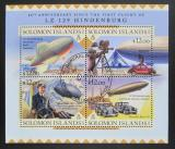 Poštovní známky Šalamounovy ostrovy 2016 Vzducholoď Hindenburg Mi# 3671-74 Kat 14€