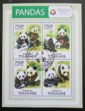Poštovní známky Togo 2014 Pandy Mi# 4916-19