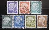 Poštovní známky Německo 1956-57 Prezident Heuss Mi# 259-65