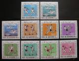 Poštovní známky Rás al-Chajma 1966 Arabské hry Mi# 37-46