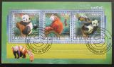 Poštovní známky Guinea 2014 Pandy Mi# 10371-73 Kat 18€