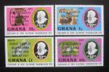 Poštovní známky Ghana 1987 Návštěva Prince Charlese Mi# 694-97