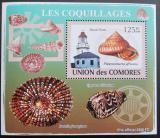 Poštovní známka Komory 2009 Maják a škeble deluxe Mi# 2086