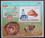 Poštovní známka Komory 2009 Maják a škeble deluxe neperf. Mi# 2086 B