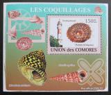 Poštovní známka Komory 2009 Maják a škeble deluxe Mi# 2087