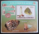 Poštovní známka Komory 2009 Maják a škeble deluxe Mi# 2089