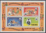 Poštovní známky Tanzánie 1979 Mezinárodní rok dětí Mi# Block 18