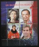 Poštovní známky Kongo 2009 Francouzští astronauti