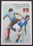 Poštovní známka Antigua 1989 MS ve fotbale Mi# Block 161