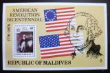Poštovní známka Maledivy1976 Americká revoluce Mi# Block 37