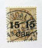 Poštovní známka Dánsko 1904 Znak, přetisk Mi# 41