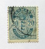 Poštovní známka Dánsko 1895 Královský znak Mi# 36 YB